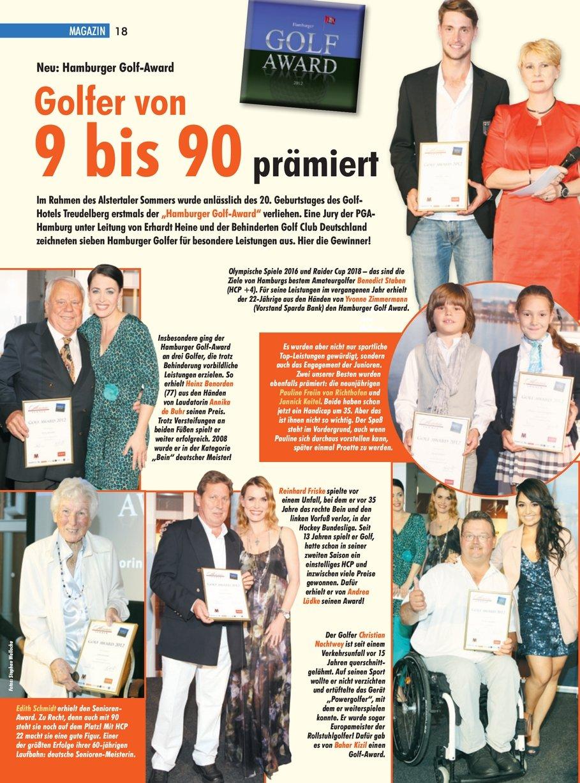 Alstertal-MAGAZIN 06/12 - Hamburger Golf-Award